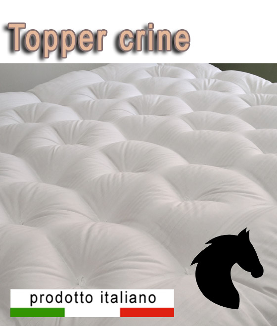 Topper naturale materassino